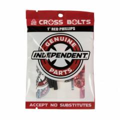 "Винты для скейта Independent Phillips Hardware 1"" Black/Red"